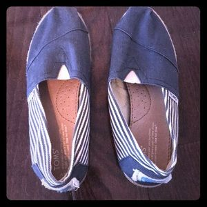 Toms striped wicker shoes